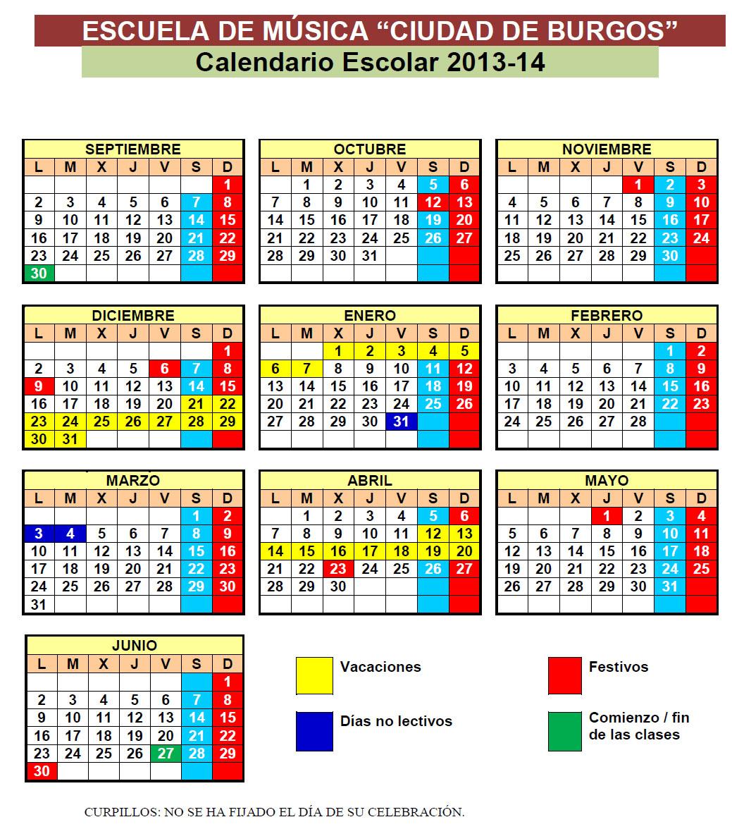 Calendario Enero 1978.Calendario Escolar