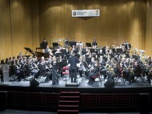 Banda Ciudad de Burgos con la soprano Astrid Krone en el Principal,