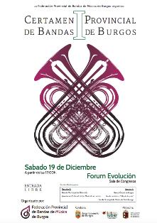 cartel 1 certamen bandas de Burgos