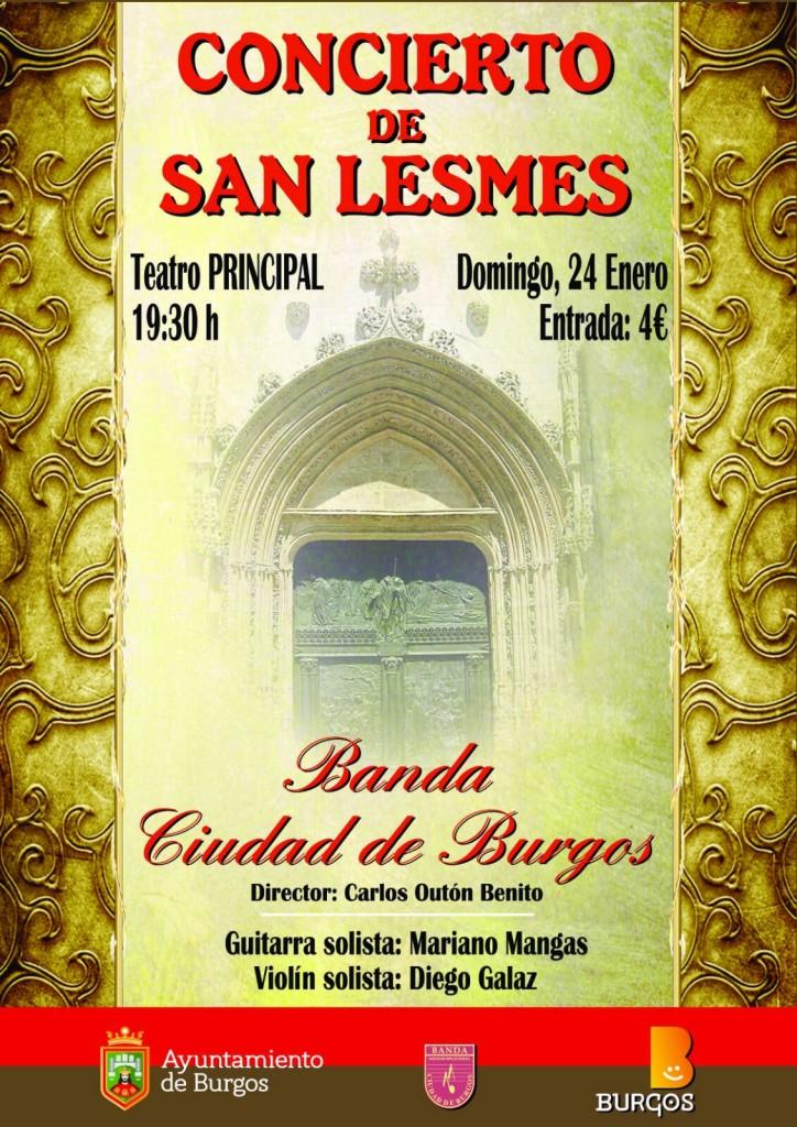 Banda Ciudad de Burgos, programa San Lesmes 15