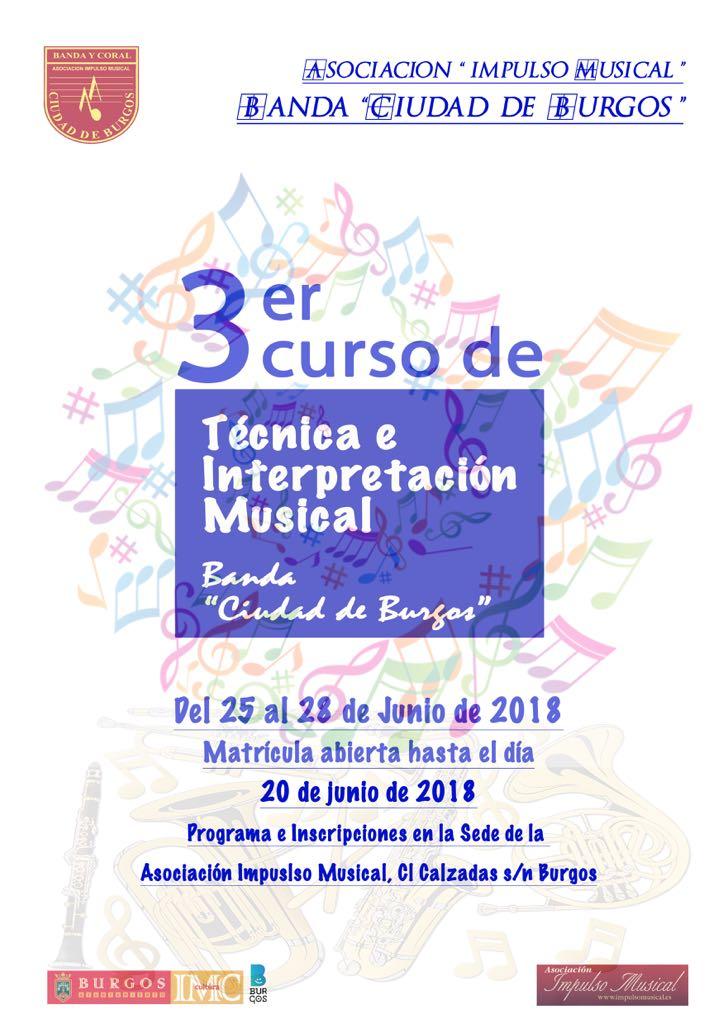 3ER CURSO DE TECNICA E INTERPRETACIÓN MUSICAL BANDA CIUDAD DE BURGOS
